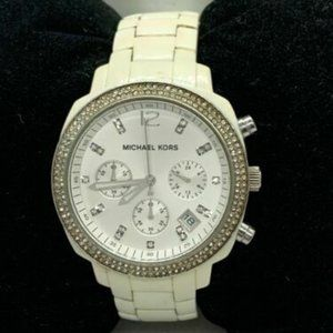 Michael Kors Men's Analog White Dial  Watch D909